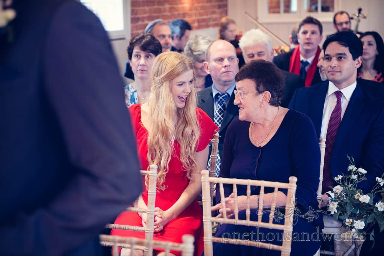 Sopley Mill Wedding ceremony guests