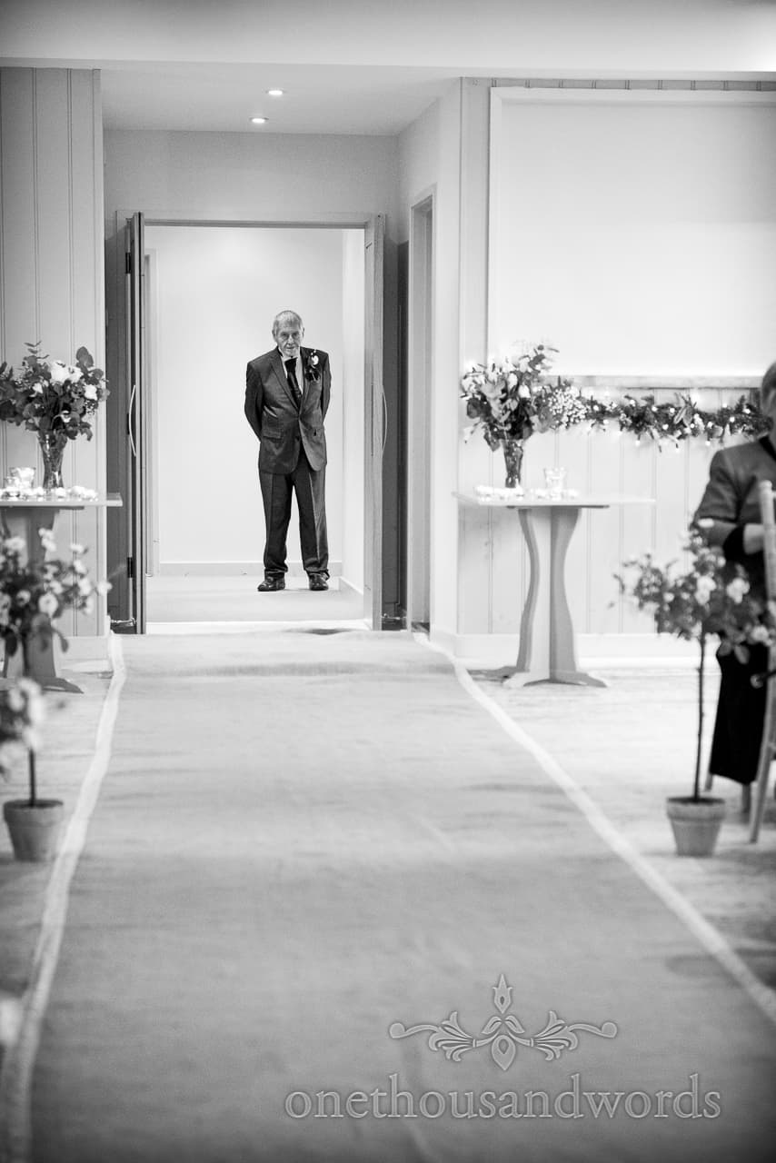 Father of bride at Sopley Mill Wedding