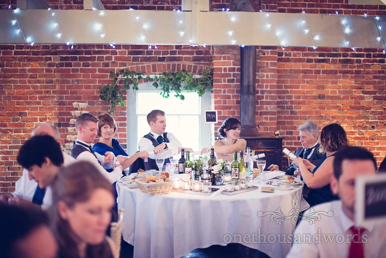 Sopley Mill Wedding breakfast crackers
