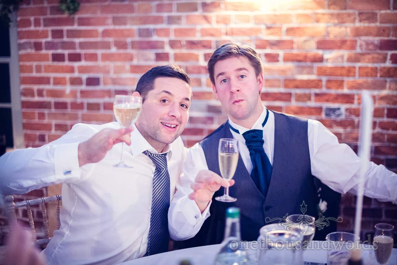 Sopley Mill Wedding guests drink