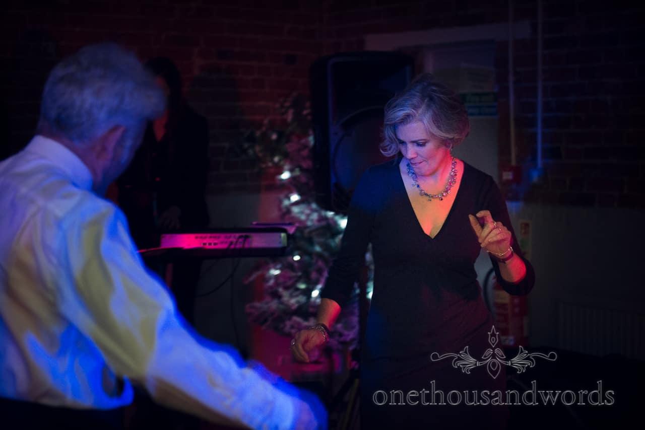Sopley Mill Wedding guests dancing