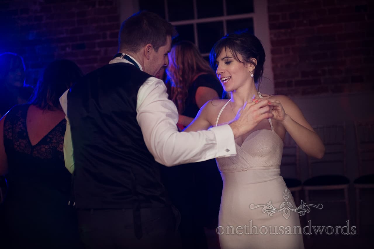 Sopley Mill Wedding bride and groom dance