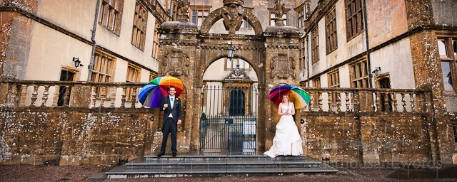 Sherborne Castle Wedding photographer in the rain