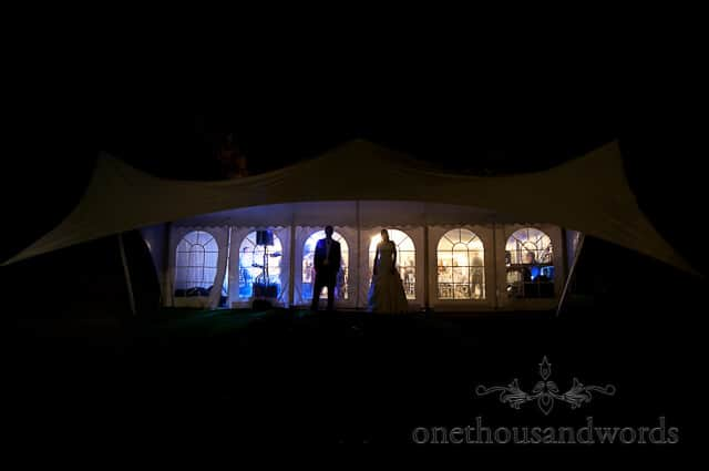 Sherborne Castle wedding marquee