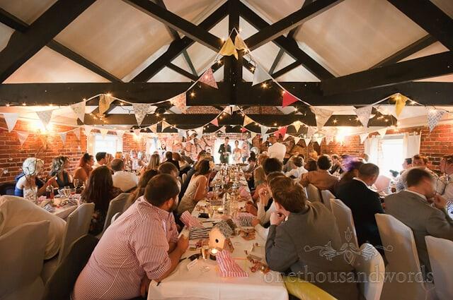 Sopley Mill wedding speech photograph