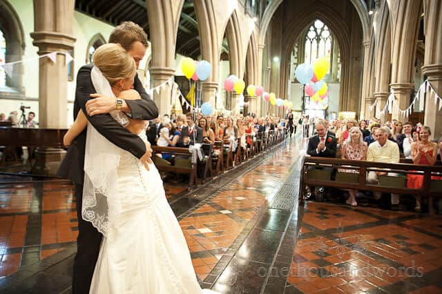 St Peters church Bournemouth wedding ceremony