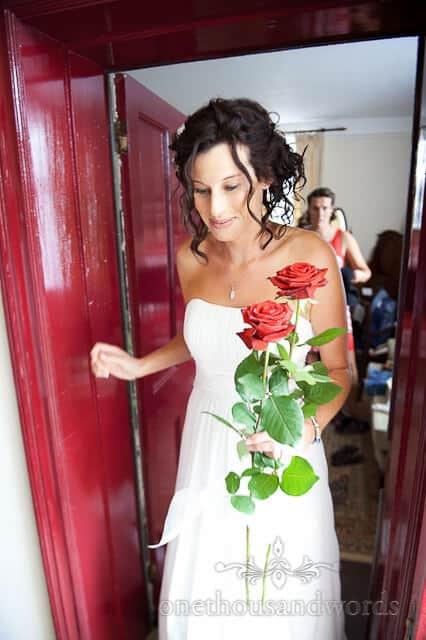 wedding red roses photograph wedding photographer wimborne