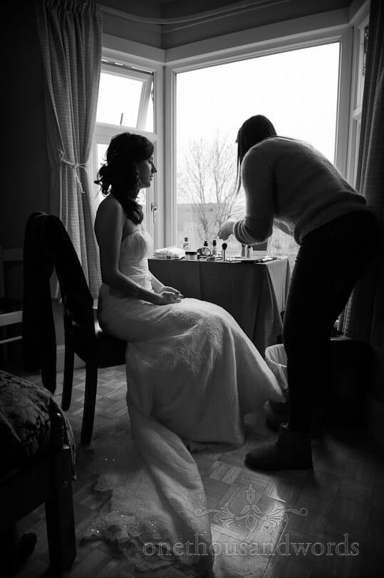 wedding makeup on wedding morning