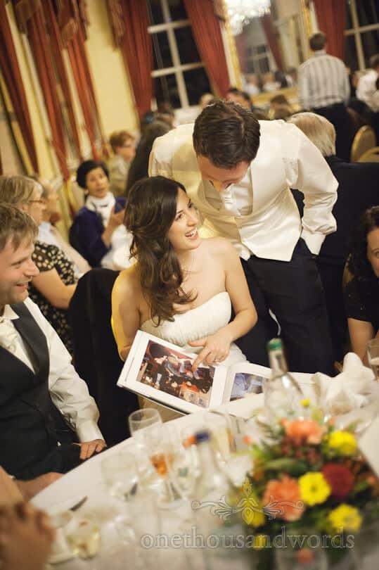 wedding photo book at Moor Park Golf Club