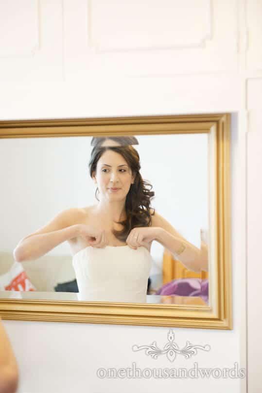 bride in mirror photograph