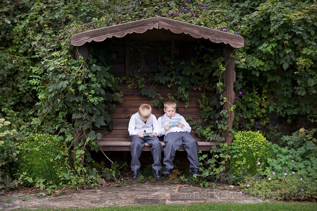 page boys at wimborne wedding