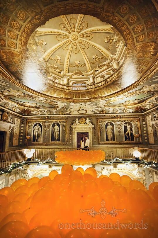 orange wedding balloons moor park