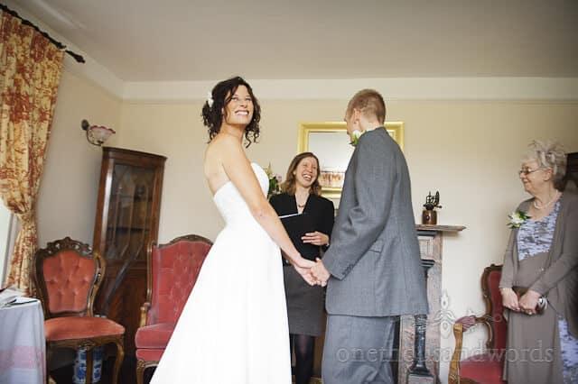 wedding ceremony at Honeybrook farm