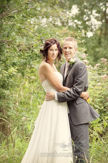 wedding couple at wimborne wedding