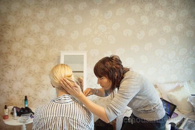 wedding hairdresser in Dorset