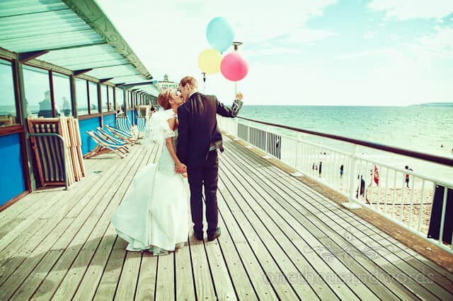 Bournemouth wedding photography on Bournemouth Pier