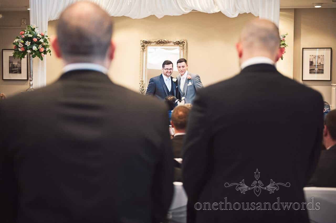 Best Man and groom at Warbrook House wedding