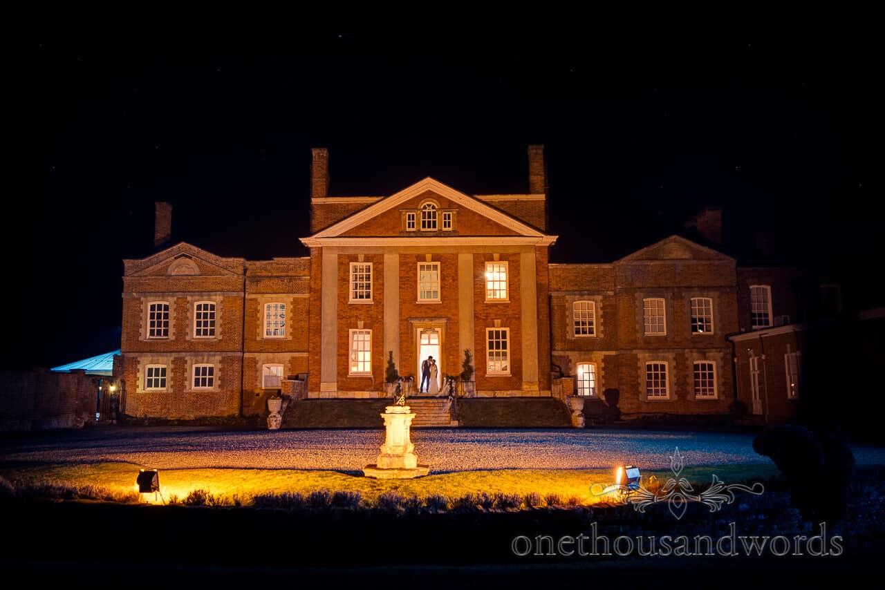 Warbrook House wedding photographer venue at night