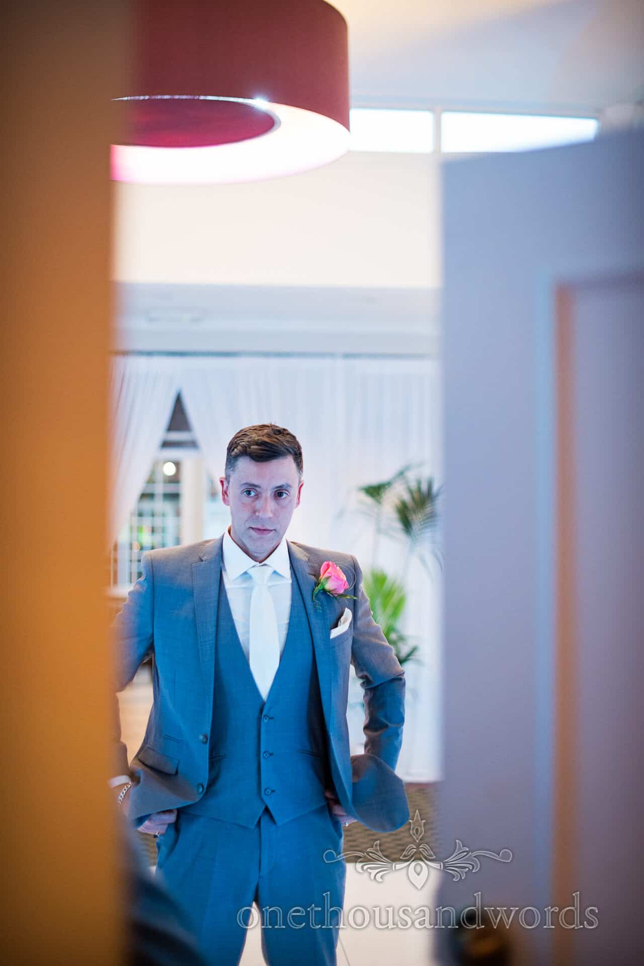groom portrait photograph at Warbrook House