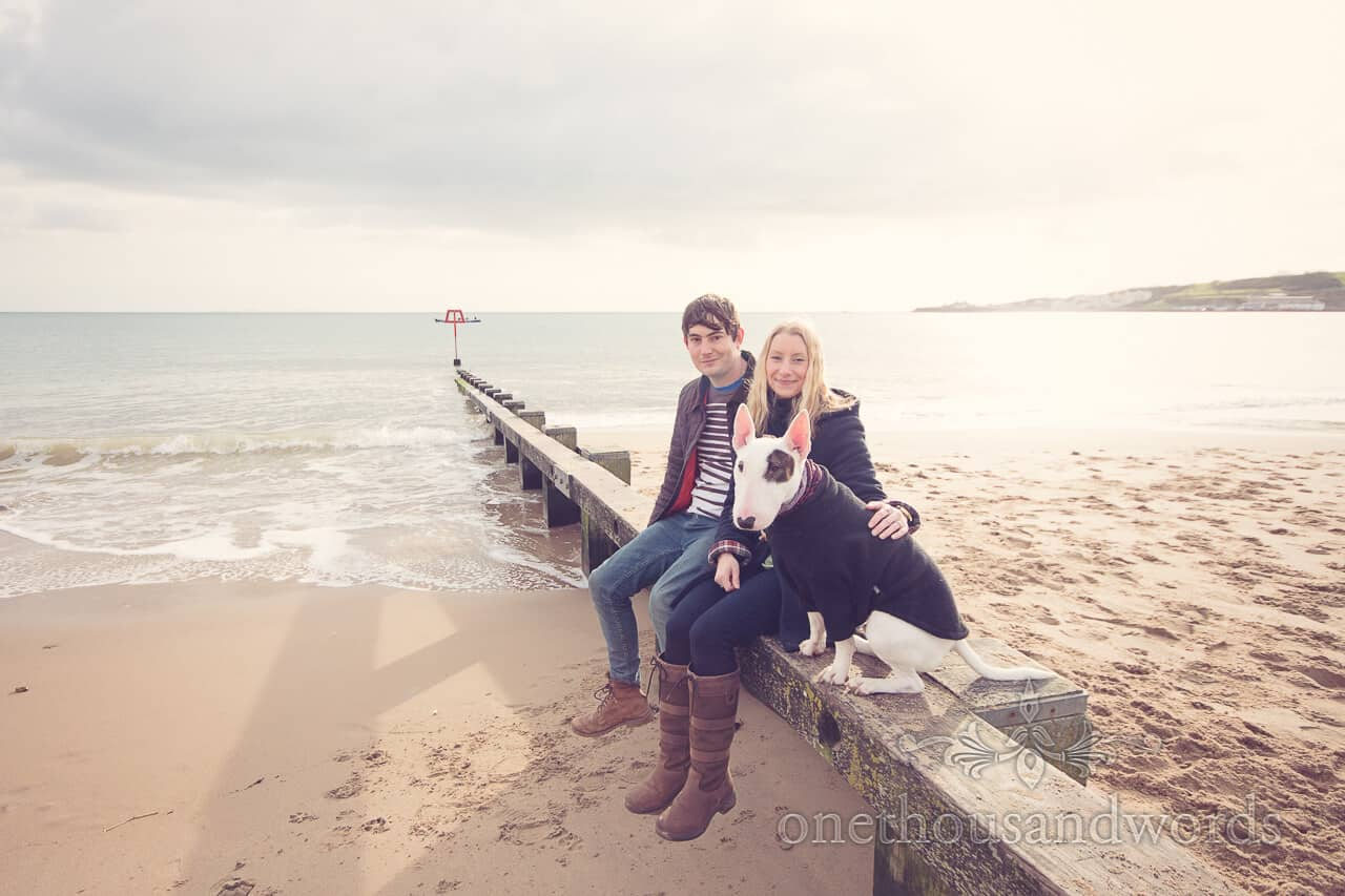 Swanage Beach Engagement Photos with Dorset Wedding Photographers