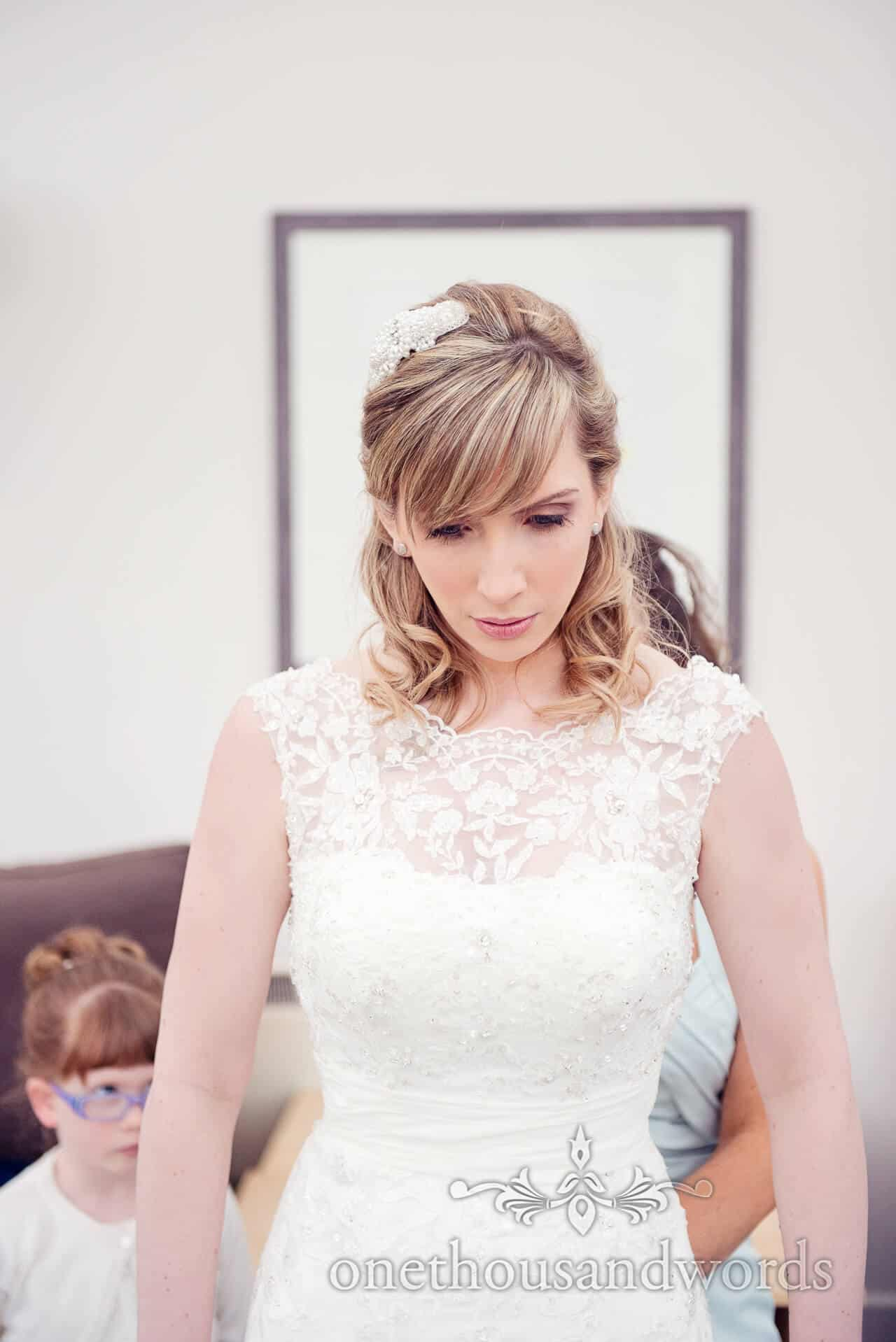 Warbrook House weddign photographer bride portrait