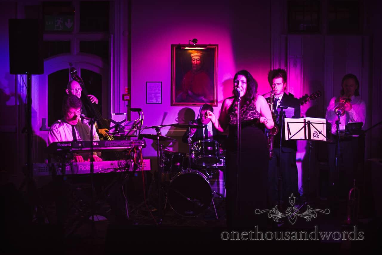 Blue mojitos wedding band at Rhinefield House Hotel