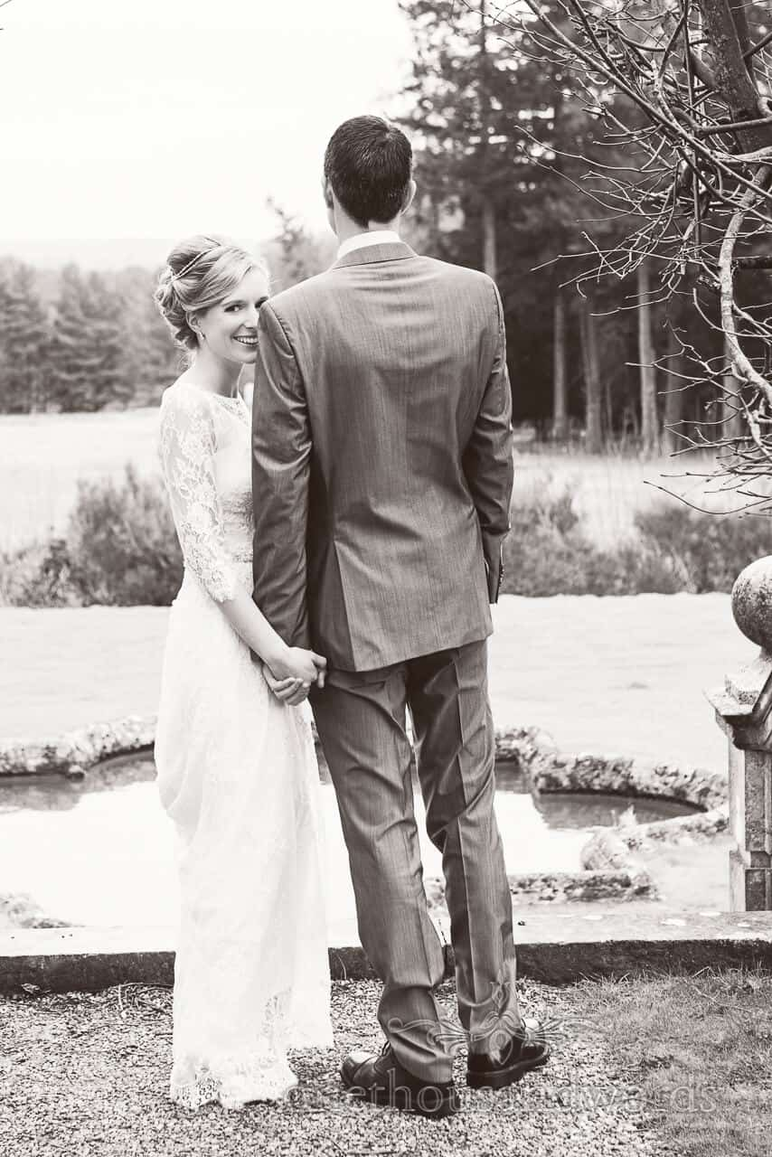 Bride and Groom at New Forest wedding