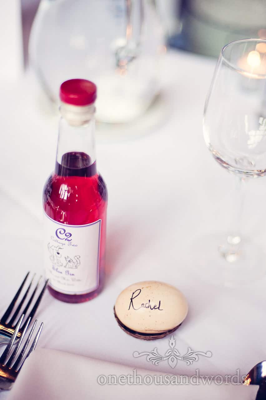 Unusual wedding place names and home made wine at wedding