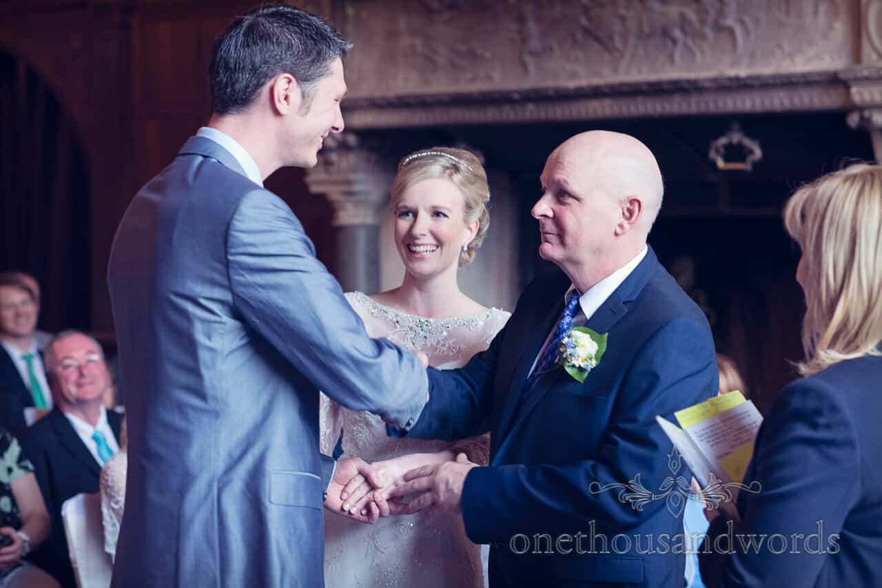 Father gives away bride Rhinefield House