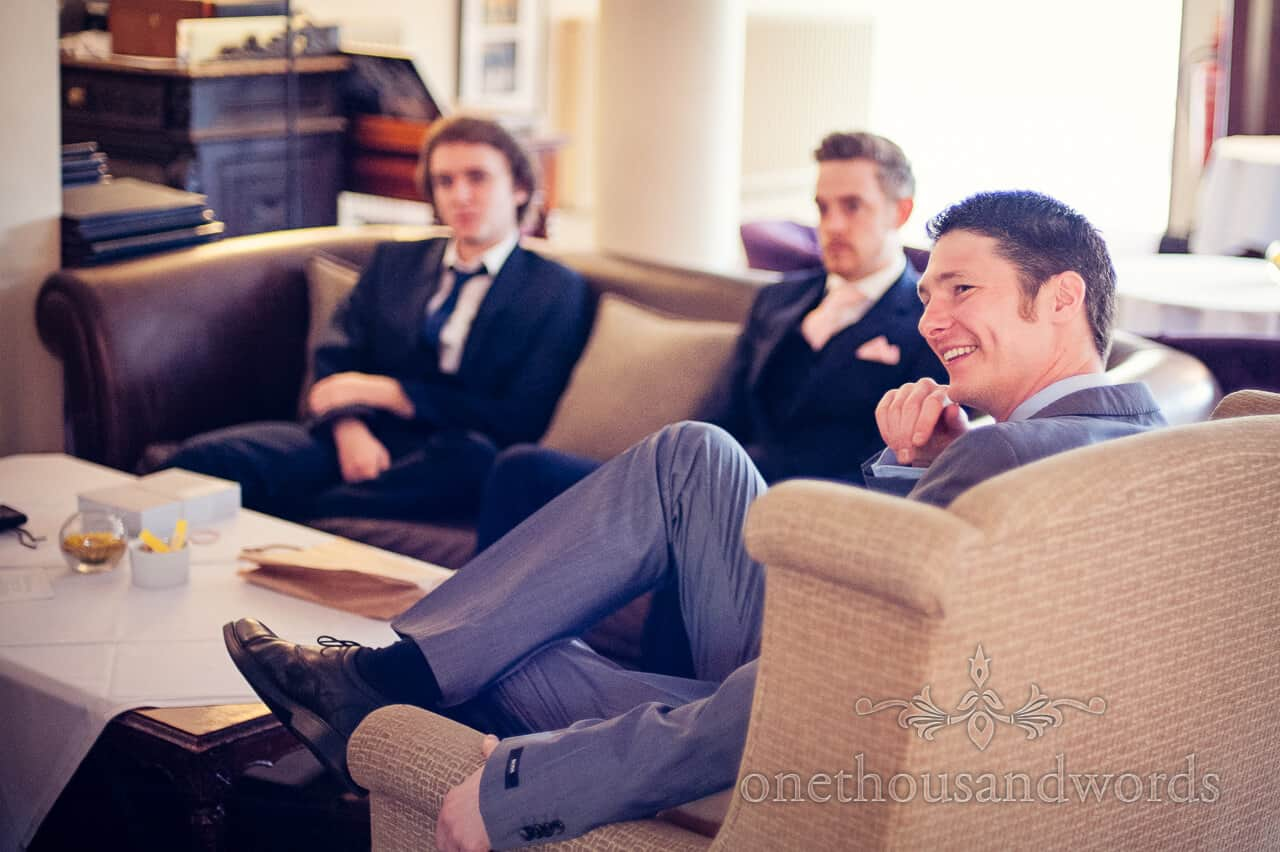 Grooms Party New Forest Wedding Photograph