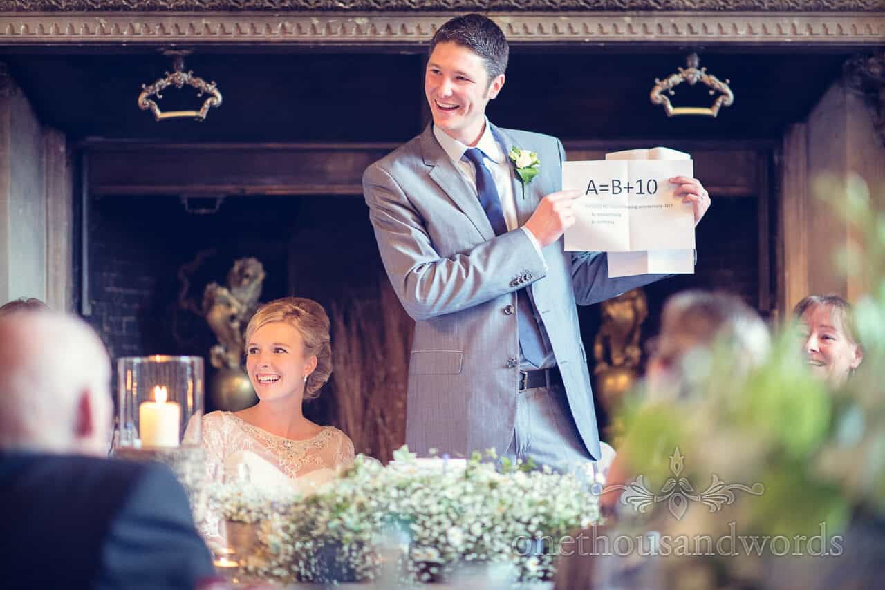 New Forest Wedding speeches at Rhinefield House Hotel