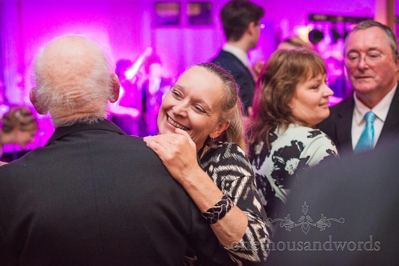 older wedding guests dancing