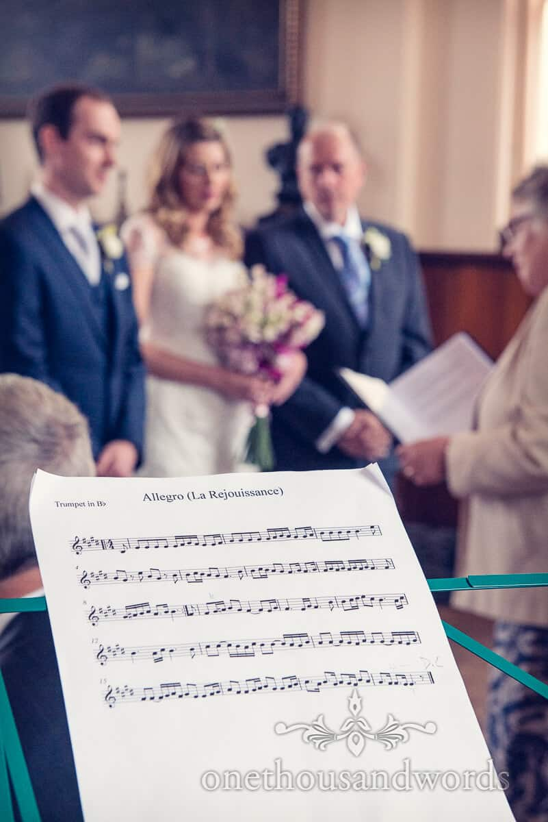 wedding music in Swanage Town Hall