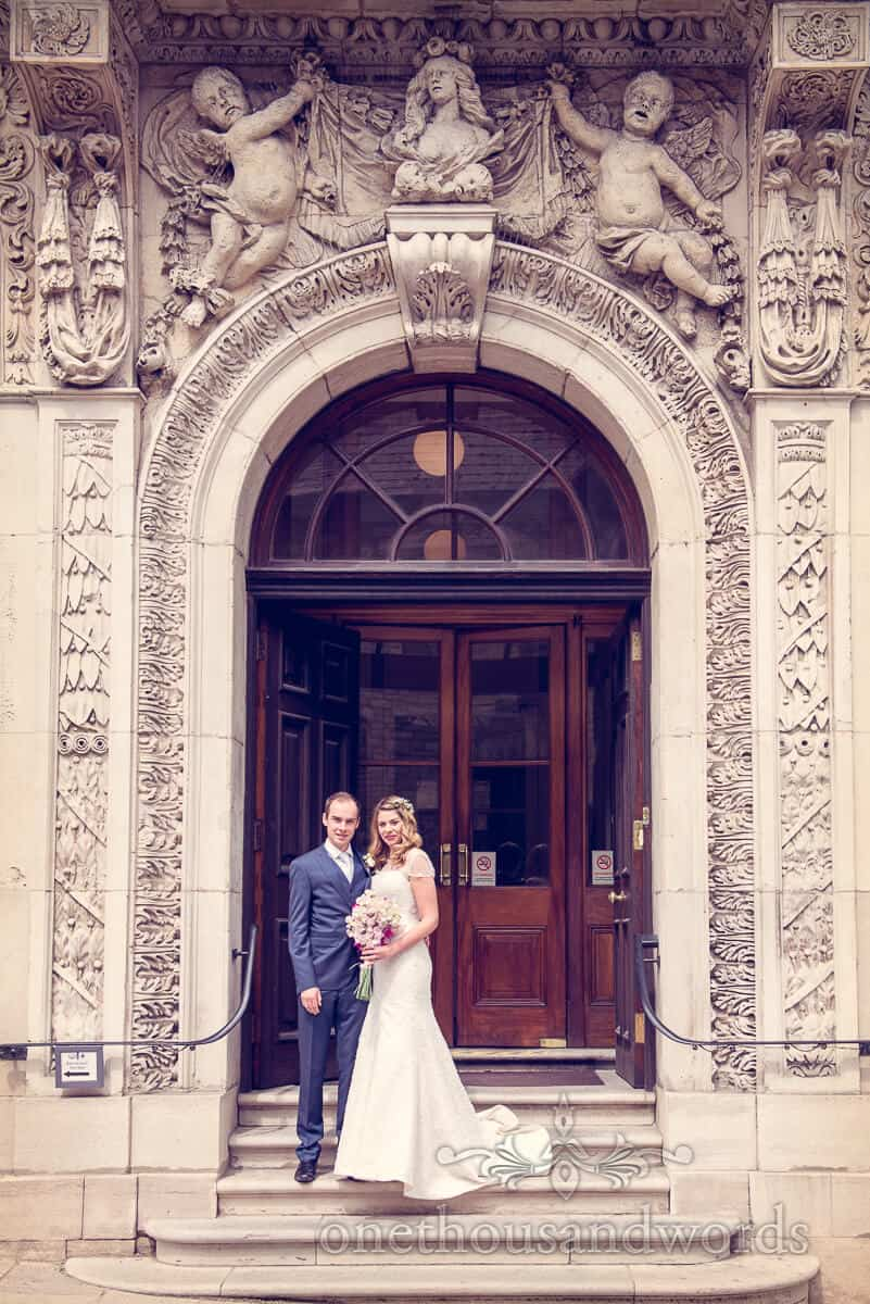 Purbeck wedding photographs at Swanage Town Hall