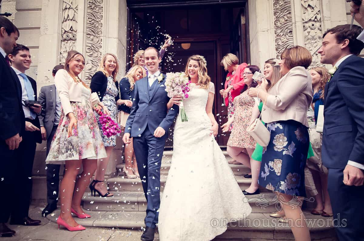 purbeck wedding confetti photographs