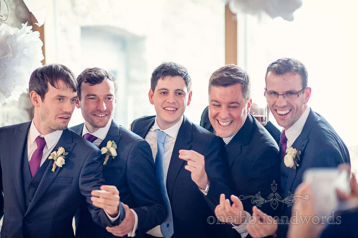 groomsmen at Dorset wedding photograph