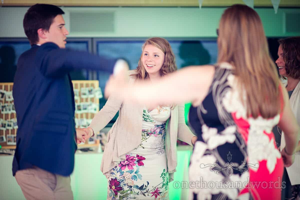 guests dancing at Purbeck wedding photographs