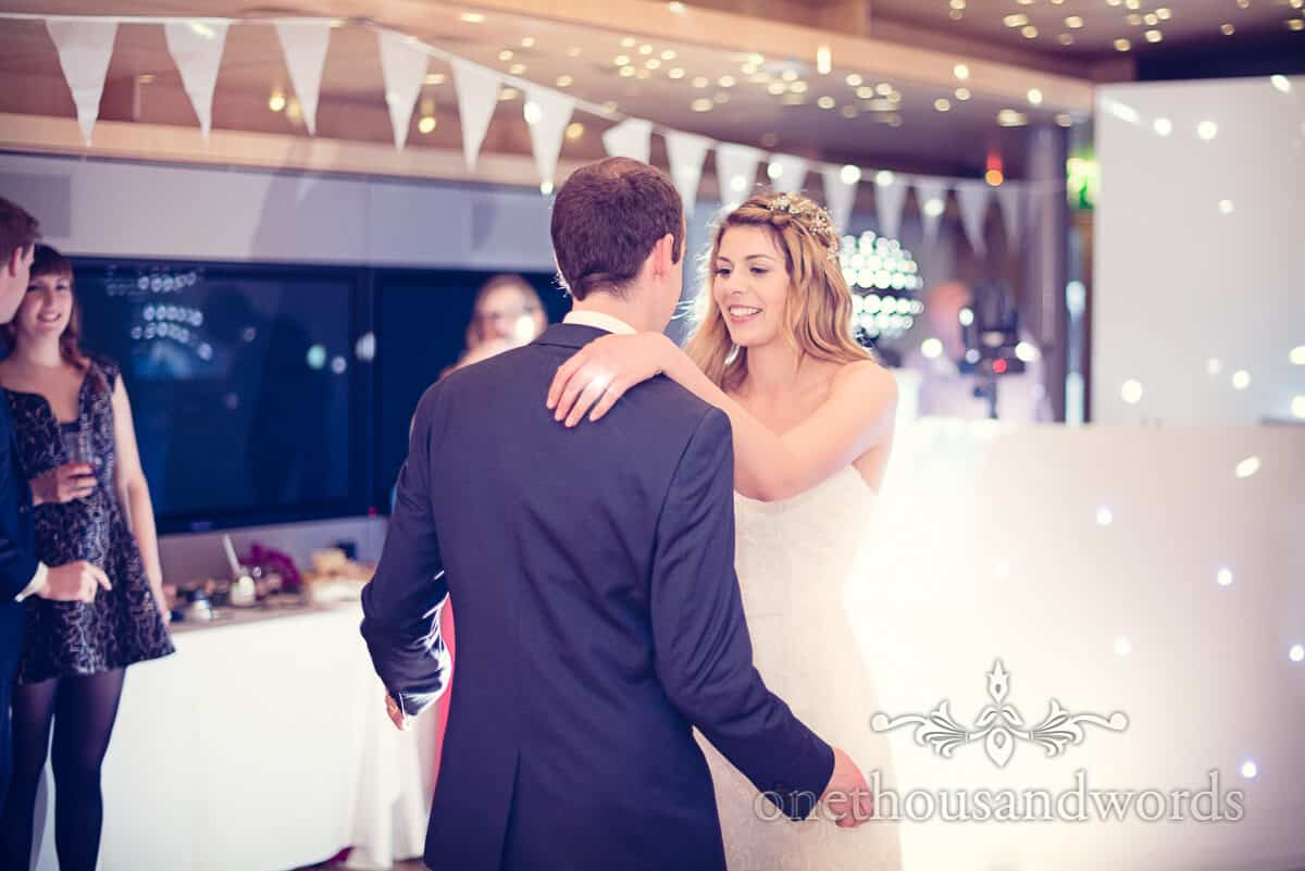 First dance at Durlston Castle Purbeck wedding
