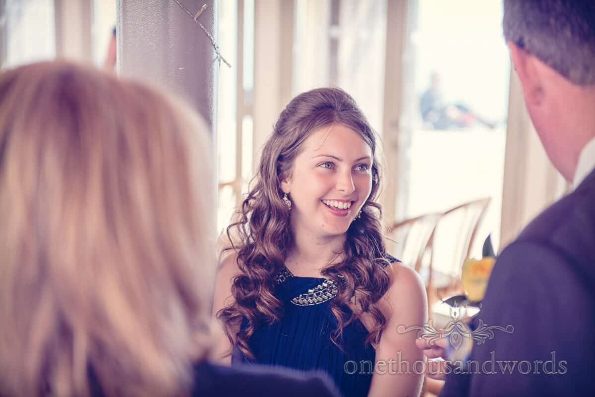 swanage wedding guest photograph
