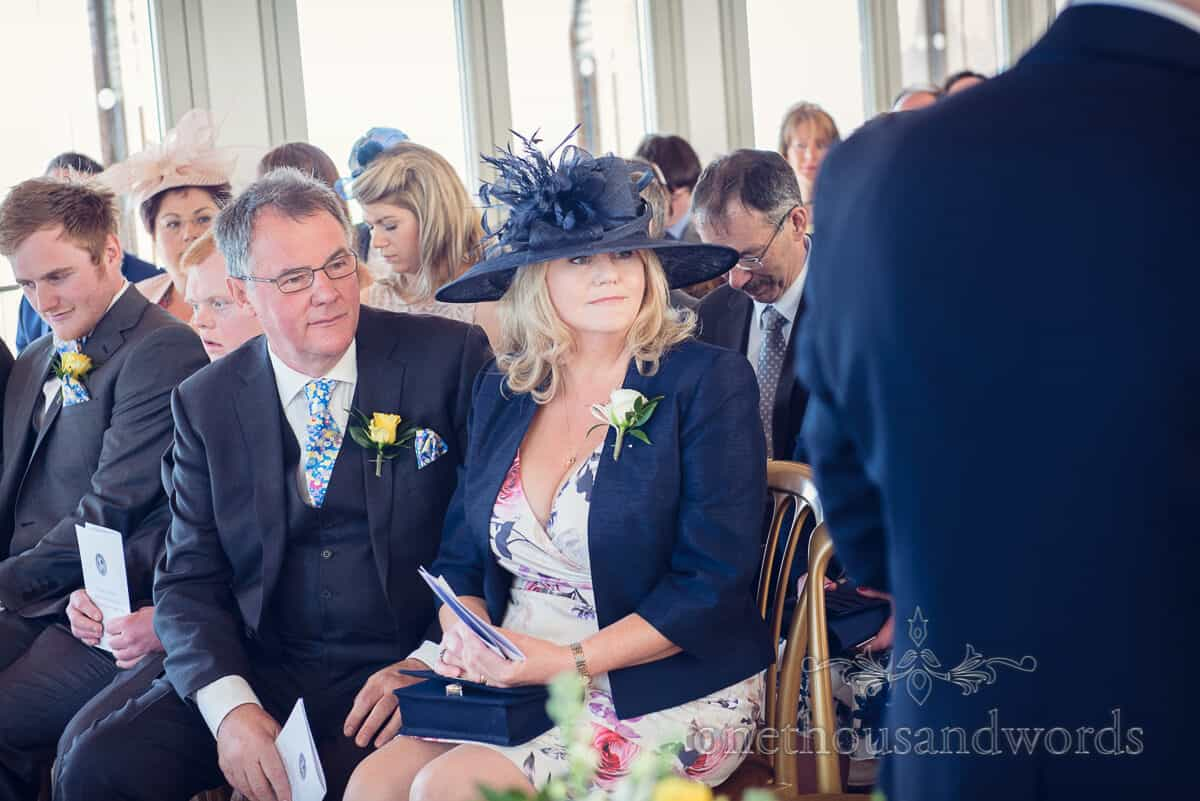 Mother and father of groom at Durlston Castle wedding