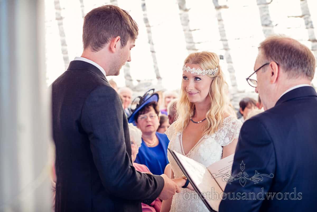 swanage wedding photographs Durlston Castle ceremony