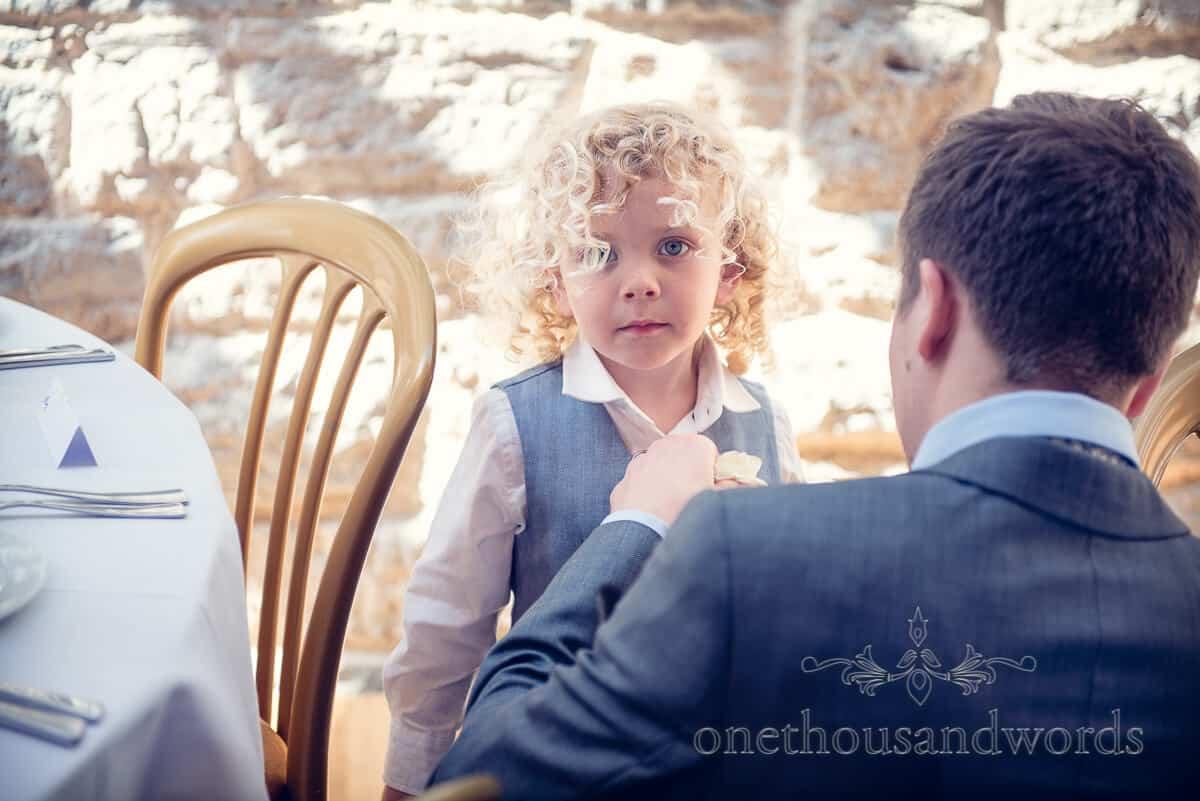 swanage wedding photographs page boy