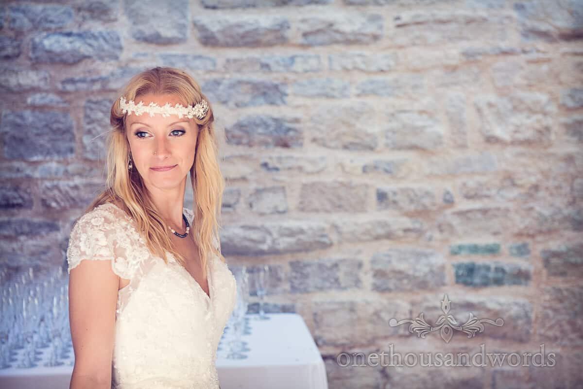 swanage wedding photographs bride portrait
