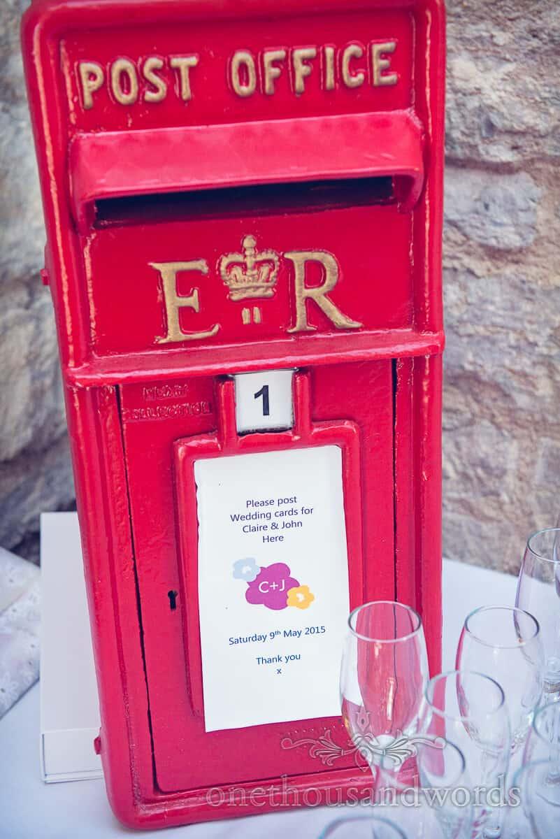 swanage wedding photographs wedding post box