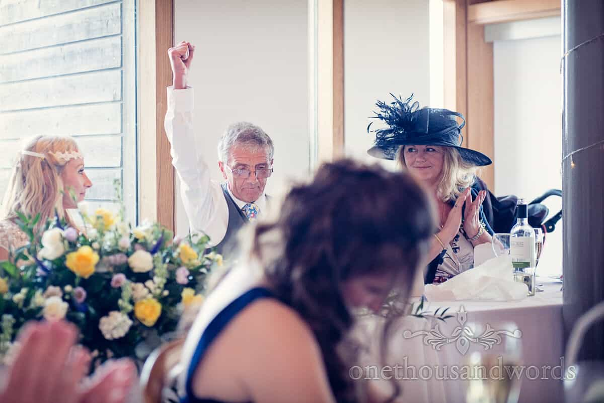 father of the bride at Durlston Castle wedding