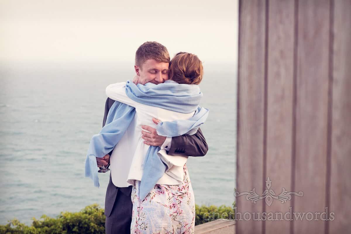 best man hugged after best man's speech