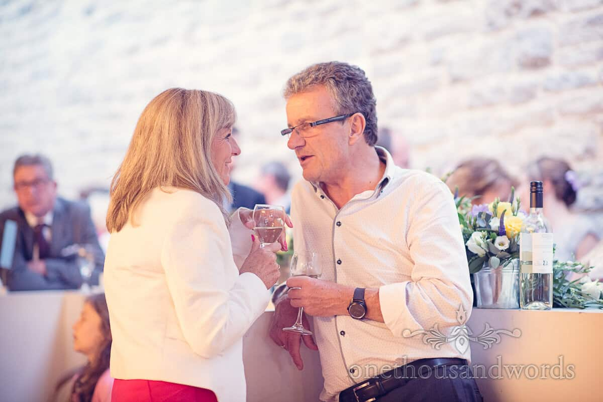 swanage wedding photographs evening guests