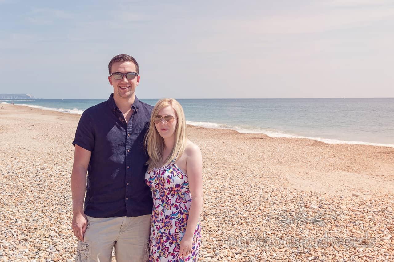 beach engagement photograph