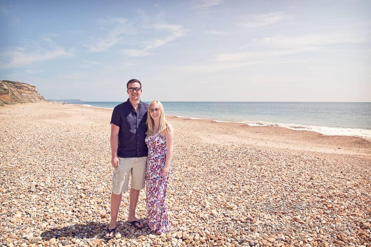 Hengistbury Head beach engagement photograph