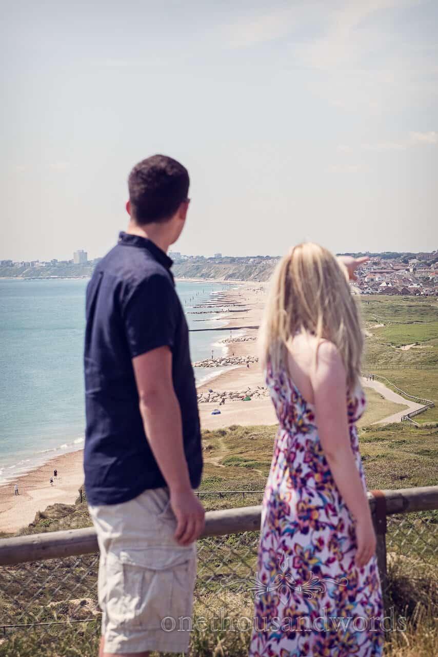 Hengistbury Head photographs view of Bournemouth beaches